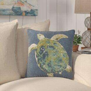 Toulouse Turtle Print Outdoor Throw Pillow (Set Of 2)