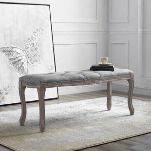 Price Check Vasquez Vintage French Upholstered Wood Bench ByOphelia & Co.