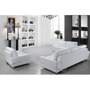 Order Coalpit Heath 3 Piece Leather Living Room Set by Orren Ellis Reviews (2019) & Buyer's Guide