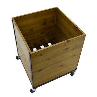 Record Storage Natural Fiber Crate
