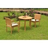 Michelle Luxurious 3 Piece Teak Bistro Set