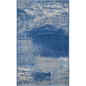 Costa Mesa Silver/Blue Area Rug
