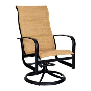 Fremont Padded Swivel Rocker Patio Dining Chair