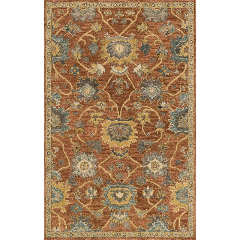 Darby Home Co Durkee Rust Gold Rug Reviews Wayfair