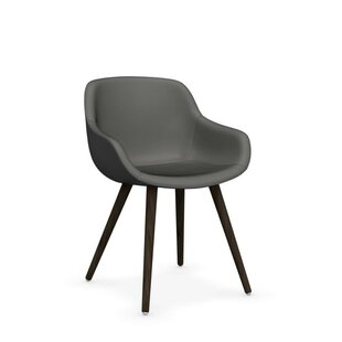 Igloo Genuine Leather Upholstered Dining Chair by Calligaris Looking fort