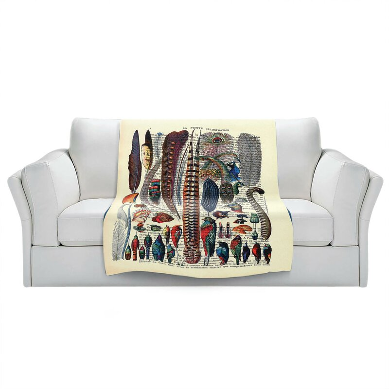 World Menagerie Schurz Feather Collection Blanket Wayfair