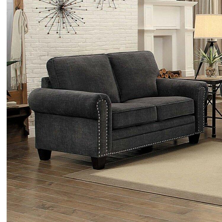 Red Barrel Studio® Haupt Fabric Upholstered 2-Seater Loveseat
