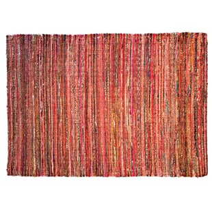 Hand Woven Red Area Rug By Am Home Textiles