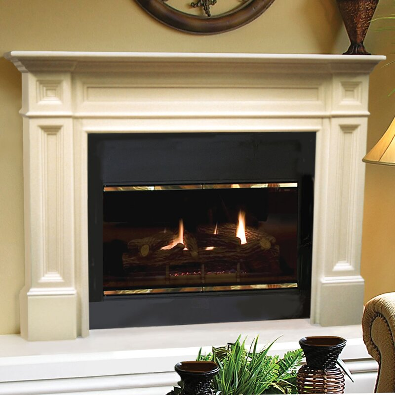 Wood Fireplace Mantel Surround Part - 32: The Classique Fireplace Mantel Surround