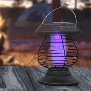 Solar Powered LED Outdoor Bug Zapper Lantern by wakeman