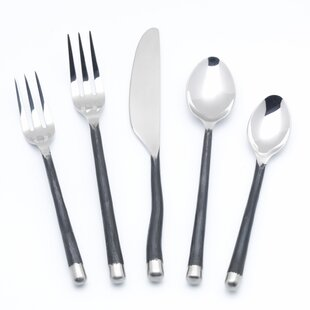 Troutville 5 Piece Flatware Set, Service for 1