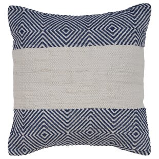 Lorrie Geometric Striped Cotton Throw Pillow