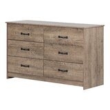 Tassio 6 Drawer Double Dresser by South Shore
