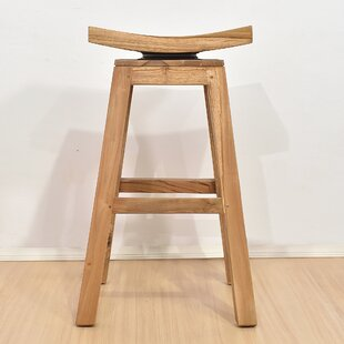 Pearson Teak 28.75 Swivel Bar Stool by Bayou Breeze