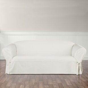 Essential Twill Box Cushion Sofa Slipcover by Sure Fit