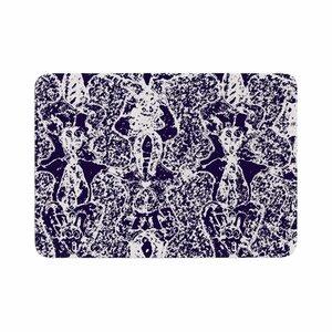 Laura Nicholson Loony Lace Illustration Memory Foam Bath Rug