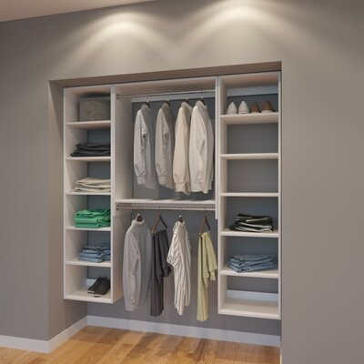 "Coronado 72"" W Organizer Closet System Rebrilliant"