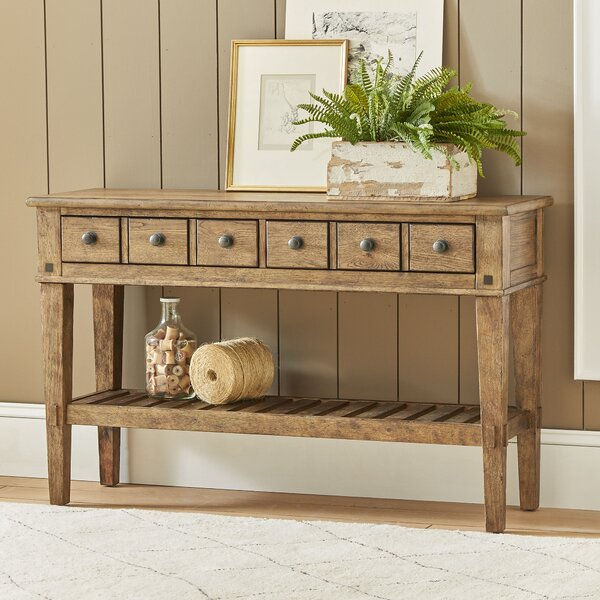 console barn table products chloe drawer pottery shelves with and drawers o