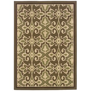 Ceasar Green/Ivory Indoor/Outdoor Area Rug