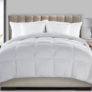 Hyper Extra Feather Blend Heavyweight Down Comforter by Alwyn Home Comparison