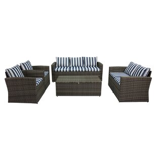 Marisa 5 Piece Rattan Sofa Seating Group
