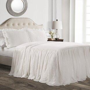 Arrington Ruffle Skirt Bedspread Set by House of Hampton