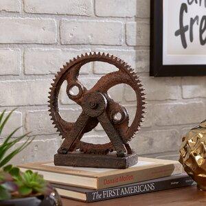 Solorio Rusted Gear Sculpture