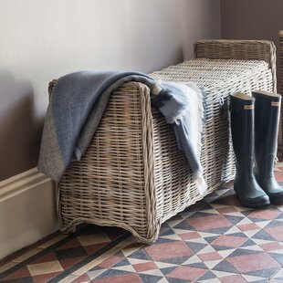 Orava Wicker Storage Bench by Gracie Oaks