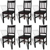 Tayler Solid Wood Slat Back Side Chair in Brown (Set of 6) by Alcott Hill®