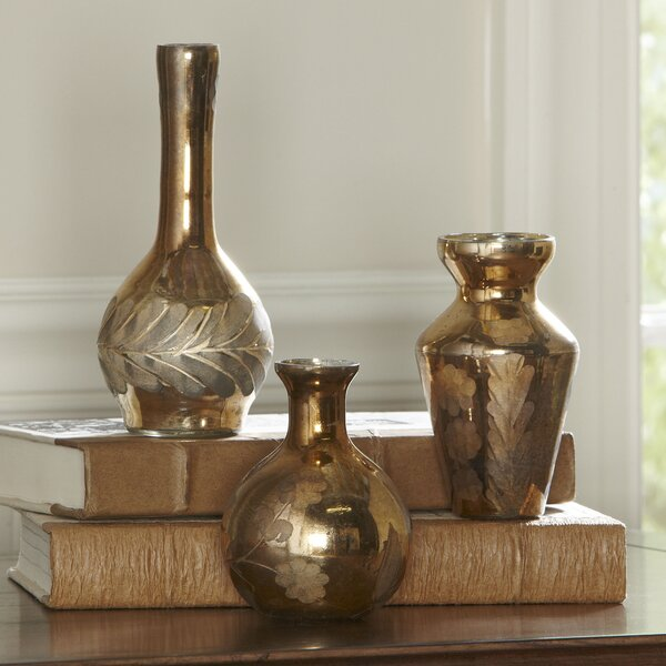 Gold Mercury Glass Vases Wayfair