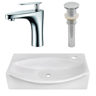 Affordable Ceramic 12 Wall Mount Bathroom Sink with Faucet By American Imaginations