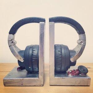 2-tlg. Buchstützen Headphones von Castleton Home