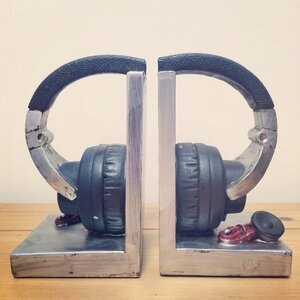 2-tlg. Buchstützen Headphones von Castleton Ho..