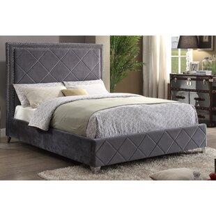 Grey Velvet Beds You Ll Love Wayfair