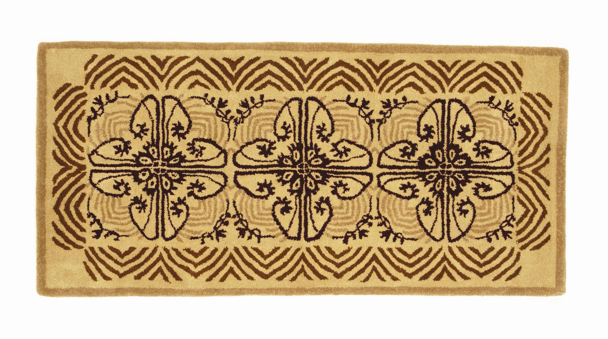 Minuteman Hearth Art Deco Wool Area Rug