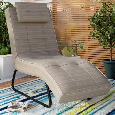 Freeport Park Donohue Reclining Chaise Lounge With Cushion Wayfair