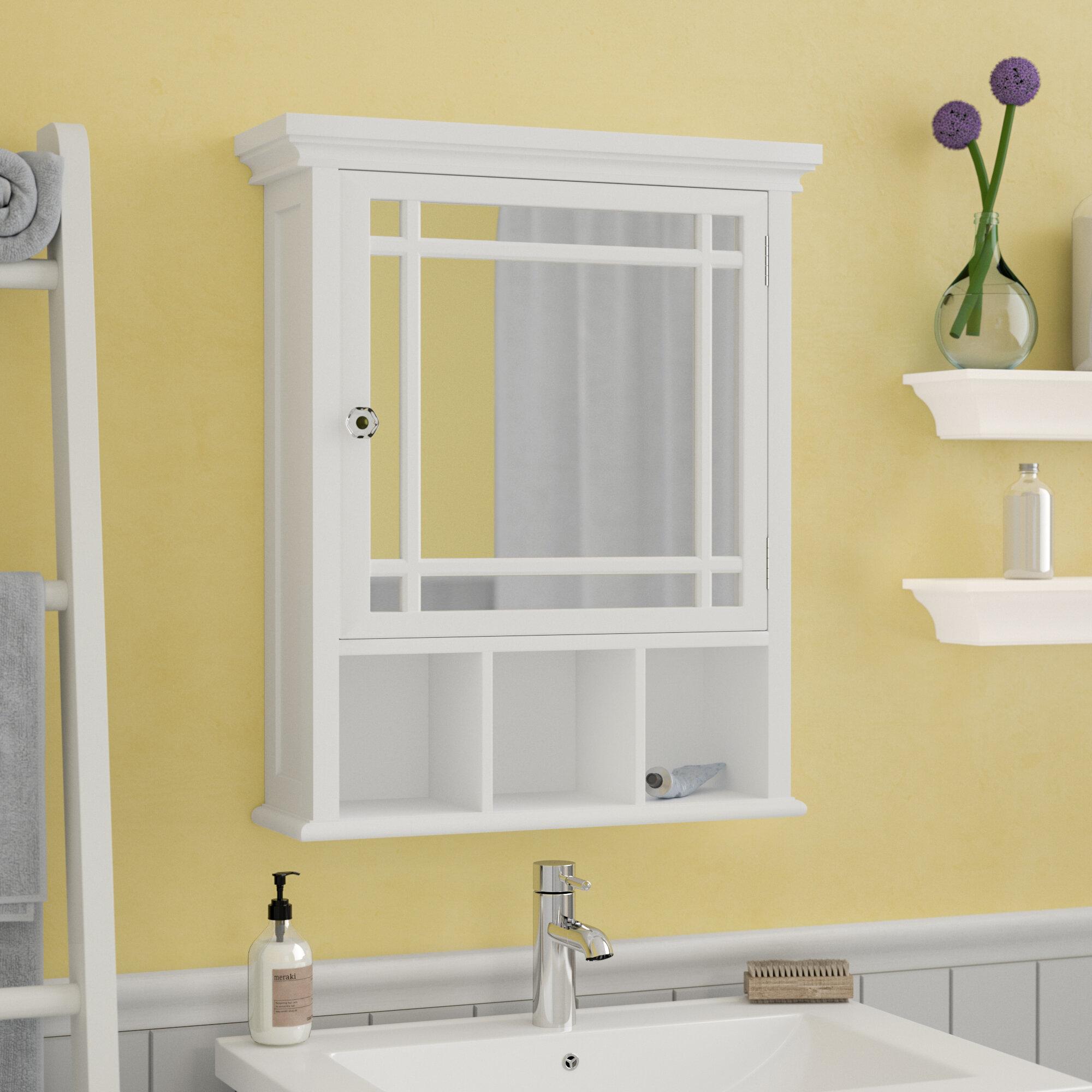 Andover Mills Taryn 20 X 24 Surface Mount Framed Medicine Cabinet With 1 Adjule Shelf Reviews Wayfair