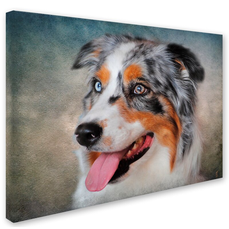 AUSTRALIAN SHEPHERD COFFEE dog pet picture art tile