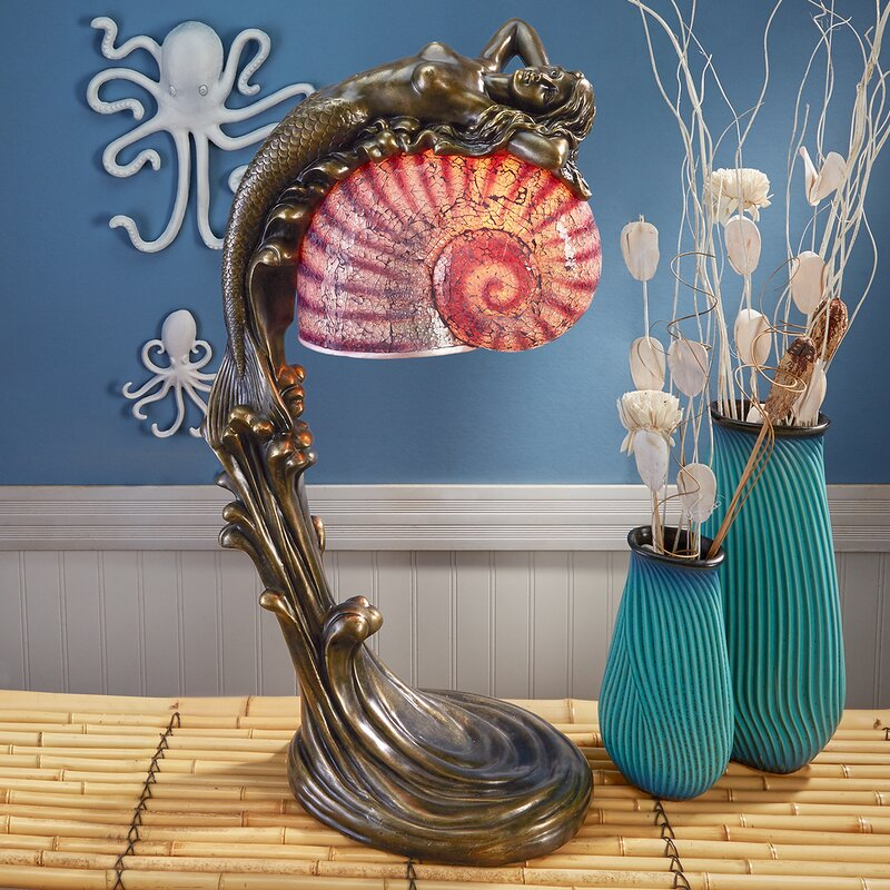 Design toscano siren of the sea mermaid 29 table lamp wayfair siren of the sea mermaid 29 table lamp greentooth Image collections