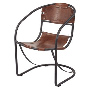 Arona Round Back Leather Lounge Chair by Trent Austin Design