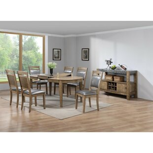 Hubble Sprucely Trimmed Solid Wood Dining Table August Grove