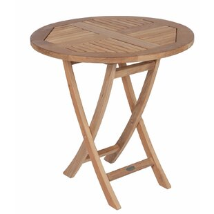 Lagasse Folding Teak Bistro Table