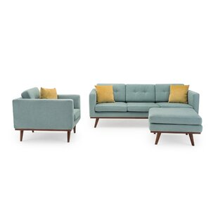 Best Reviews Eye 3 Piece Living Room Set by George Oliver Reviews (2019) & Buyer's Guide