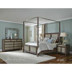 Biscayne West Canopy Customizable Bedroom Set