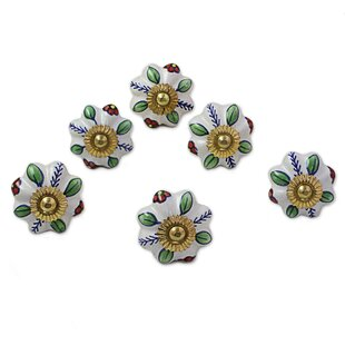 Garden Glamour Ceramic Cabinet Novelty Knob (Set of 6)