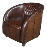 Sheldon Quilted Leather Club Chair by 17 Stories
