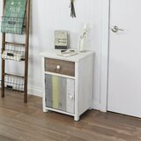 Leitha 1 - Drawer Nightstand in Brun/Gris