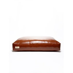 Faux Leather Foam and Faux Down Cushion Dog Bed