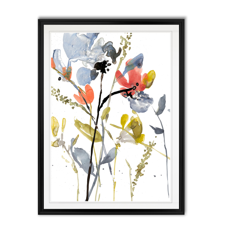 Wrought Studio Flower Overlay Ii Painting Print On Canvas Reviews Wayfair