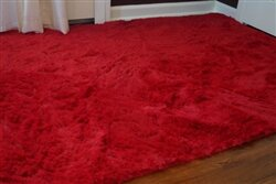 Ebern Designs Ledoux Plush Red Area Rug Wayfair